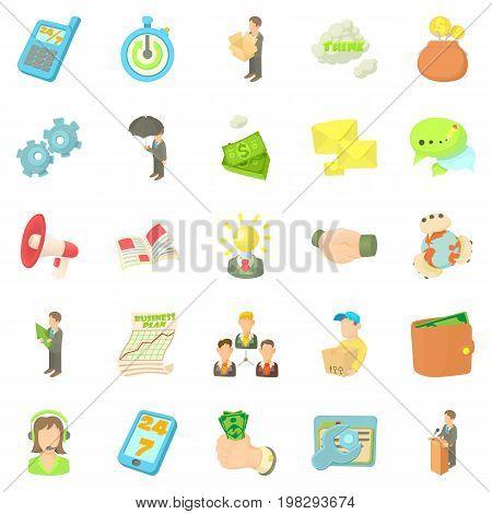 Employee of the bank icons set. Cartoon set of 25 employee of the bank vector icons for web isolated on white background