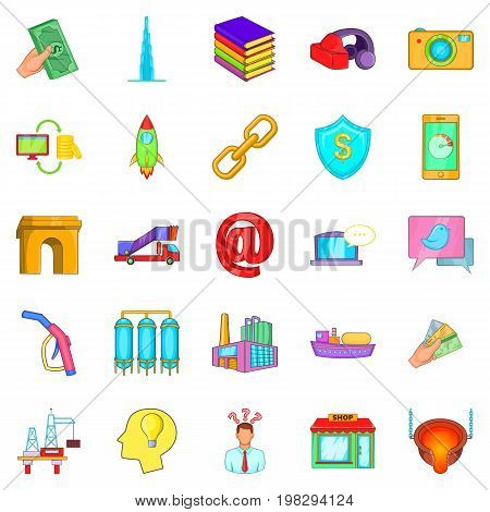 Wage icons set. Cartoon set of 25 wage vector icons for web isolated on white background