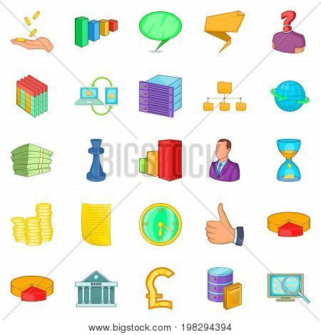 Employee search icons set. Cartoon set of 25 employee search vector icons for web isolated on white background