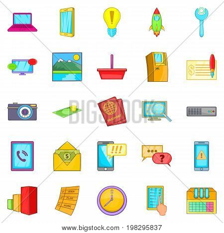 Operator icons set. Cartoon set of 25 operator vector icons for web isolated on white background