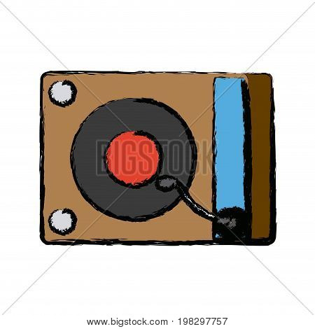 music dj party turntable technology and electronic device vector illustration
