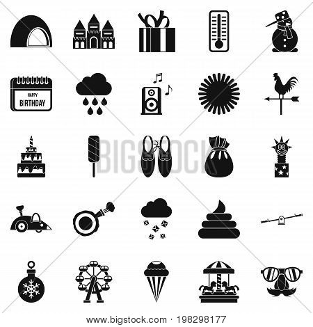 Peristyle icons set. Simple set of 25 peristyle vector icons for web isolated on white background