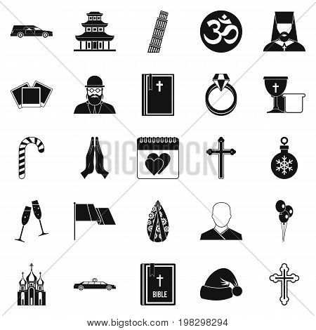 Kirk icons set. Simple set of 25 kirk vector icons for web isolated on white background