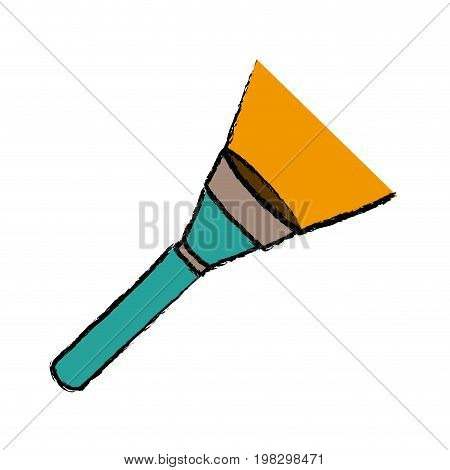 flashlight luminescence equipment lantern device vector illustration