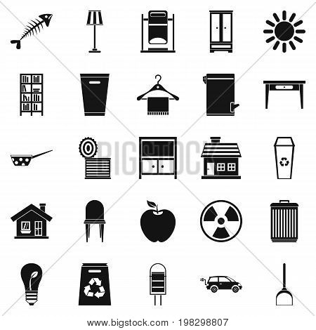 Cleaning icons set. Simple set of 25 cleaning vector icons for web isolated on white background