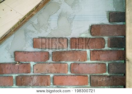 Interior Brickwork On A Building Wall