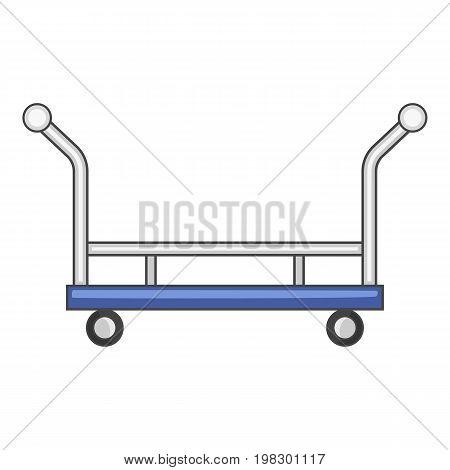 Open shop cart icon. Cartoon illustration of open shop cart vector icon for web design