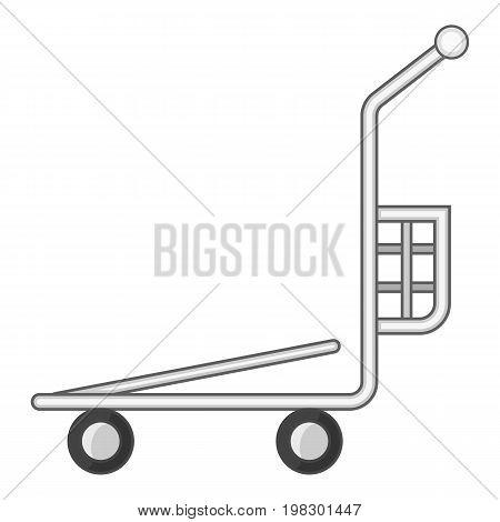 Cargo basket shopping cart icon. Cartoon illustration of cargo basket shopping cart vector icon for web design