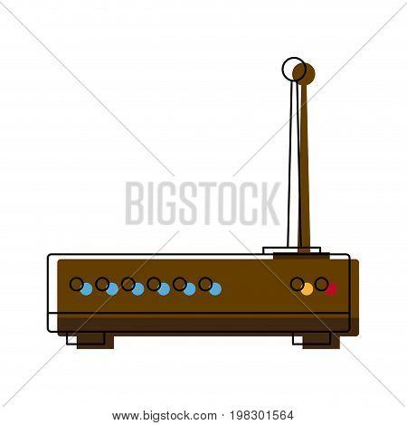 wireless router digital broadband internet communication vector illustration