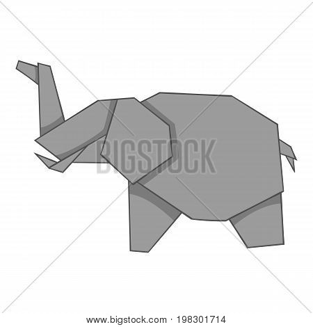 Origami elephant icon. Cartoon illustration of origami elephant vector icon for web design