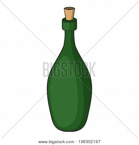 Champagne bottle icon. Cartoon illustration of champagne bottle vector icon for web design