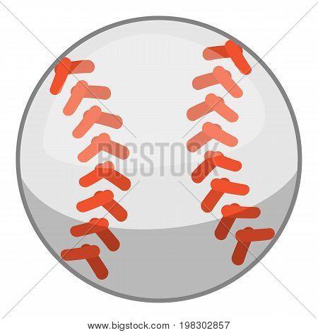 Baseball ball icon. Cartoon illustration of baseball ball vector icon for web design