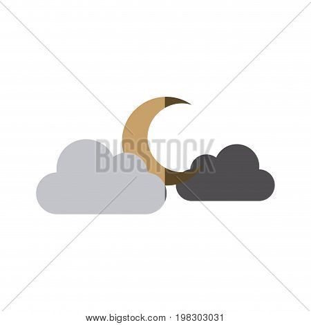 moon clouds weather forecast climate sky vector illustration