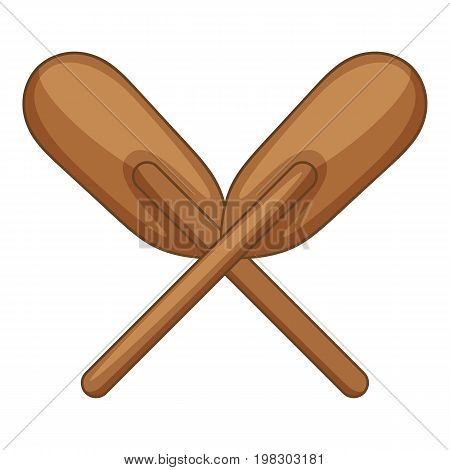 Wooden paddle icon. Cartoon illustration of wooden paddle vector icon for web design