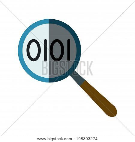 magnifier binary search looking for research technology vector illustration