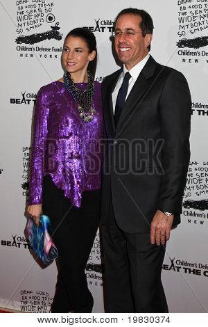 NEW YORK - DECEMBER 06:  Jessica Seinfeld and Jerry Seinfeld   attend the 20th Anniversary Celebration of the Children's Defense Fund's Beat the Odds Program on December 6, 2010 in New York City.