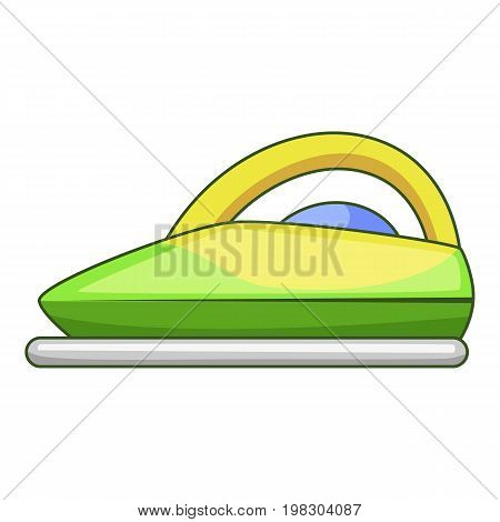 Steam iron icon. Cartoon illustration of steam iron vector icon for web design