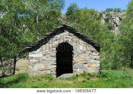 Little Chapel At Gola Di Lago Over Lugano