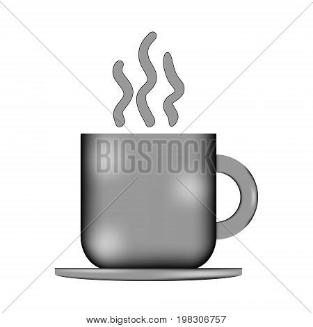 Coffee cup sign icon on white background. Vector illustration.