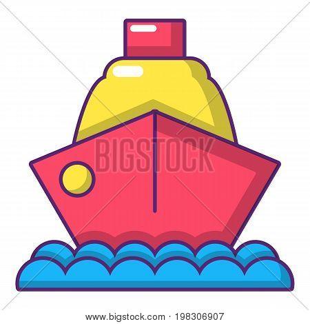 Cruise ship icon. Cartoon illustration of cruise ship vector icon for web design