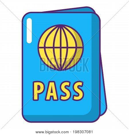 International passport icon. Cartoon illustration of international passport vector icon for web design