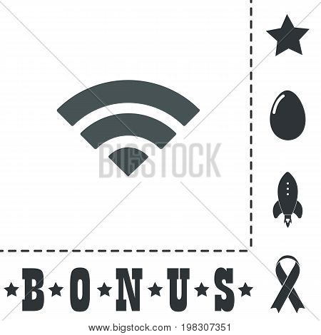 Simple RSS. Simple flat symbol icon on white background. Vector illustration pictogram and bonus icons