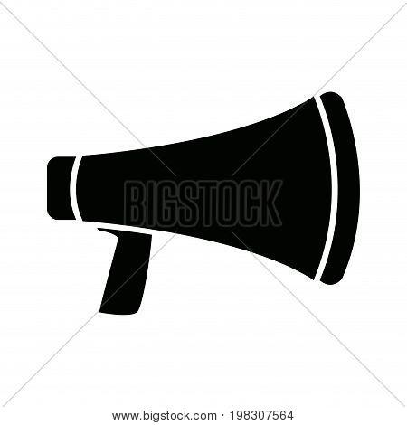 megaphone social media marketing loud concept vector illustration