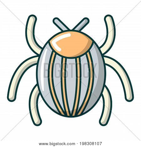 Garden beetle bug icon. Cartoon illustration of garden beetle bug vector icon for web design