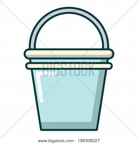 Water bucket icon. Cartoon illustration of water bucket vector icon for web design