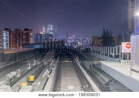 View of Kuala Lumpur city From MRT station