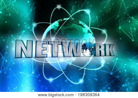 internet network, internet concept, technology concept 3d