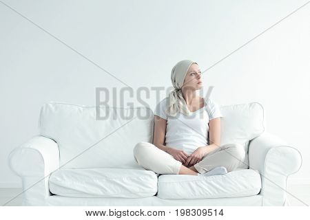 Girl With Tumor Contemplating
