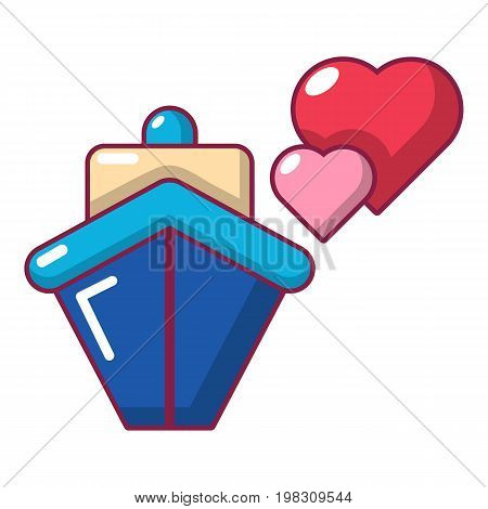 Travel journey honeymoon trip icon. Cartoon illustration of travel journey honeymoon trip vector icon for web design