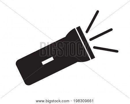 flashlight icon on white background. flat style design. flashlight sign.