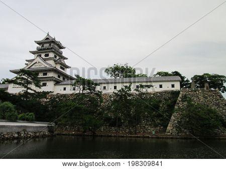 Met Imabari Castle at Ehime Prefecture, Japan
