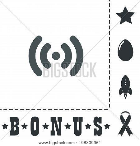 Wi-Fi network. Simple flat symbol icon on white background. Vector illustration pictogram and bonus icons