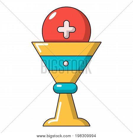 Church goblet glyph icon. Cartoon illustration of church goblet glyph vector icon for web design