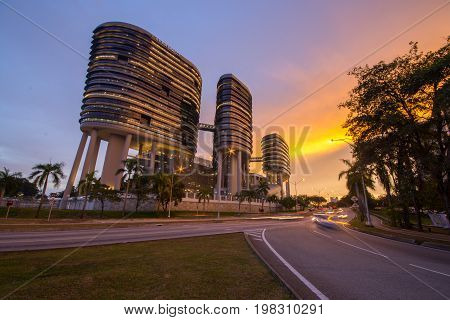 Putrajaya, Malaysia - July 25, 2017. SPRM Malaysian Anti - Corruption Commission building in Putrajaya, Malaysia.