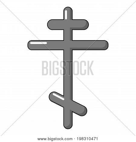 Orthodox cross icon. Cartoon illustration of orthodox cross vector icon for web design