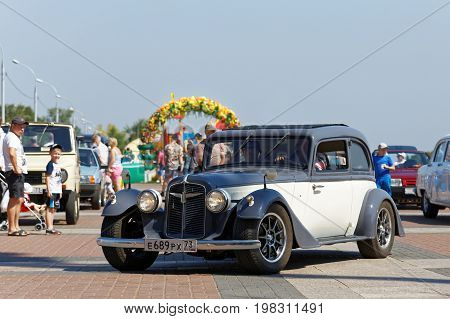 Vintage Retro Car At The