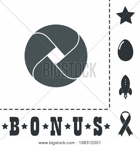 Loop circle. Simple flat symbol icon on white background. Vector illustration pictogram and bonus icons