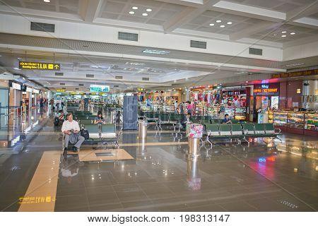 HANOI, VIETNAM - MAY 11, 2015: inside Noi Bai International Airport.