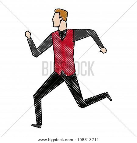 businessman running energetic dynamic concept vector illustration