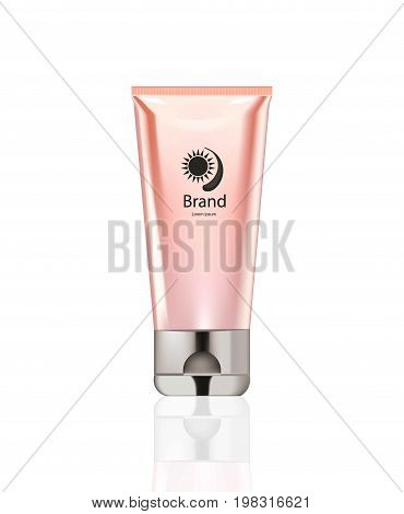 Vector realistic Cosmetics set package. Hydration cream, hand cream and lotion. Perfect for advertising, flyer, banner, poster. 3d illustrations