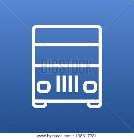Vector Lorry Element In Trendy Style.  Isolated Truck Outline Symbol On Clean Background.