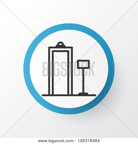 Premium Quality Isolated Security Scanner Element In Trendy Style.  Metal Detector Icon Symbol.
