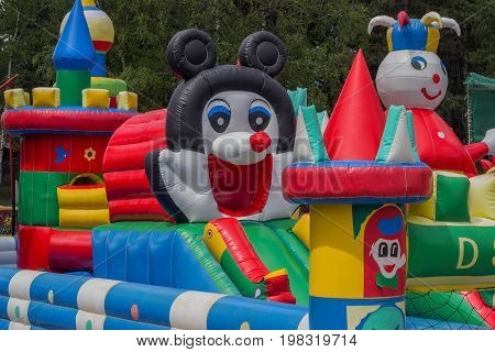 Jumping Castle, Playground For Kids With Slides 2