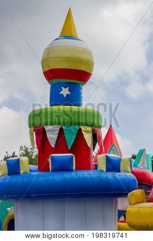 Jumping Castle, Playground For Kids With Slides 3