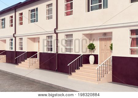 Building With Nice Porches Side