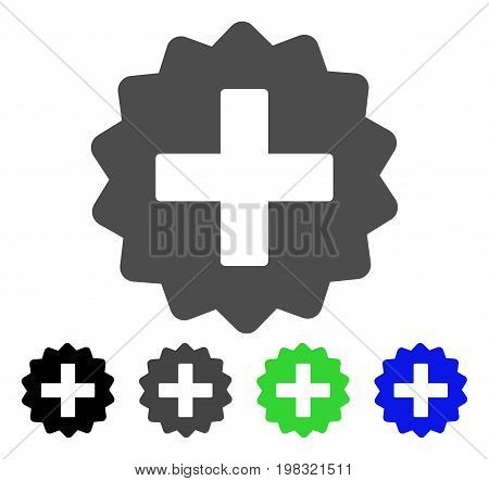 Create flat vector pictogram. Colored create, gray, black, blue, green pictogram variants. Flat icon style for application design.
